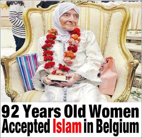 92 years Belgium Lady reverted to Isman
